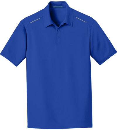True Royal Pinpoint Mesh Polo
