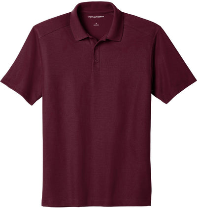 Port Authority-EZPerformance Pique Polo-XS-Maroon-Thread Logic