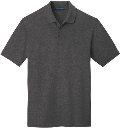 Port Authority-EZCotton Pique Polo Shirt-S-Charcoal Heather-Thread Logic