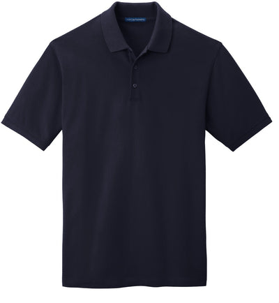 Port Authority-EZCotton Pique Polo Shirt-S-Navy-Thread Logic