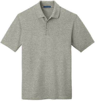 Port Authority-EZCotton Pique Polo Shirt-S-Oxford Grey Heather-Thread Logic