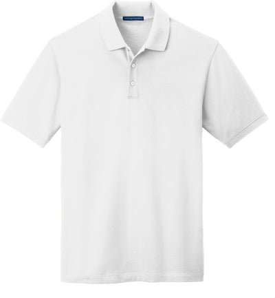 Port Authority-EZCotton Pique Polo Shirt-S-White-Thread Logic