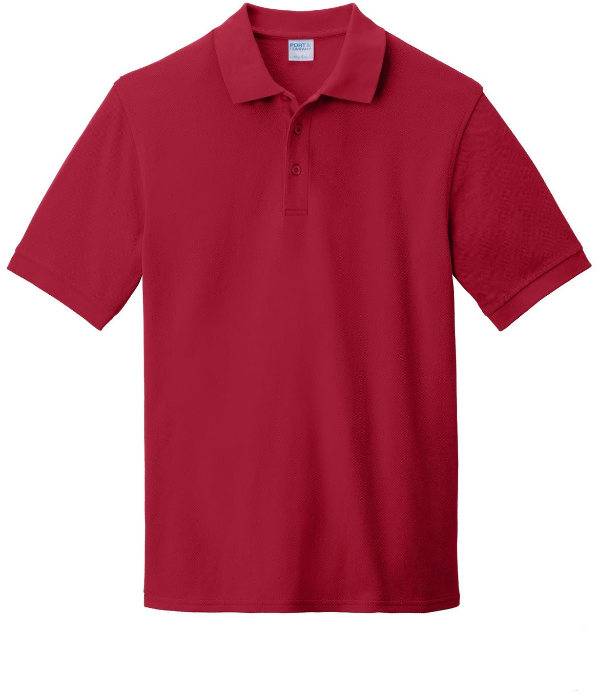 Port Authority-Ring Spun Pique Polo-S-Red-Thread Logic