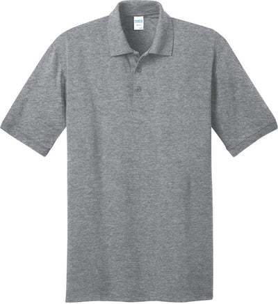 Port Authority-Jersey Knit Polo Shirt-S-Athletic Heather-Thread Logic
