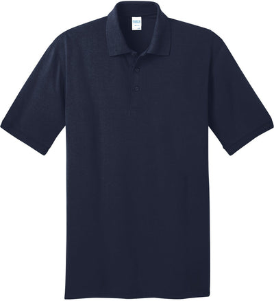 Port Authority-Jersey Knit Polo Shirt-S-Deep Navy-Thread Logic