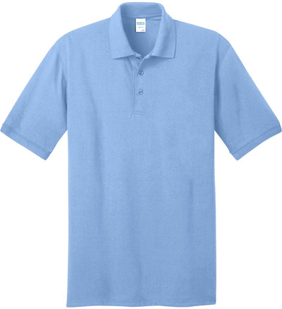 Port Authority-Jersey Knit Polo Shirt-S-Light Blue-Thread Logic