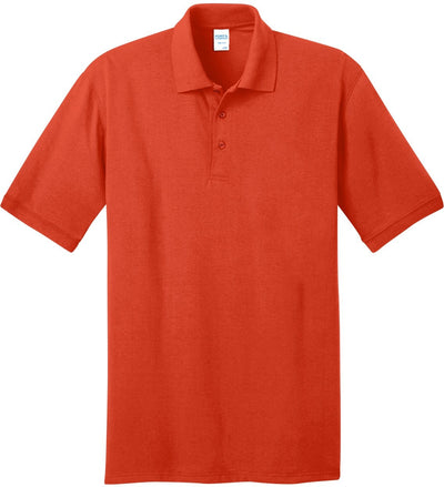 Port Authority-Jersey Knit Polo Shirt-S-Orange-Thread Logic