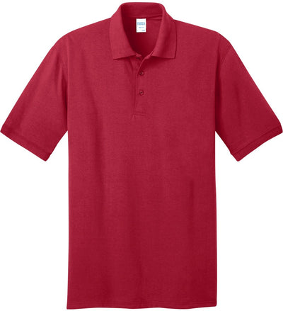 Port Authority-Jersey Knit Polo Shirt-S-Red-Thread Logic