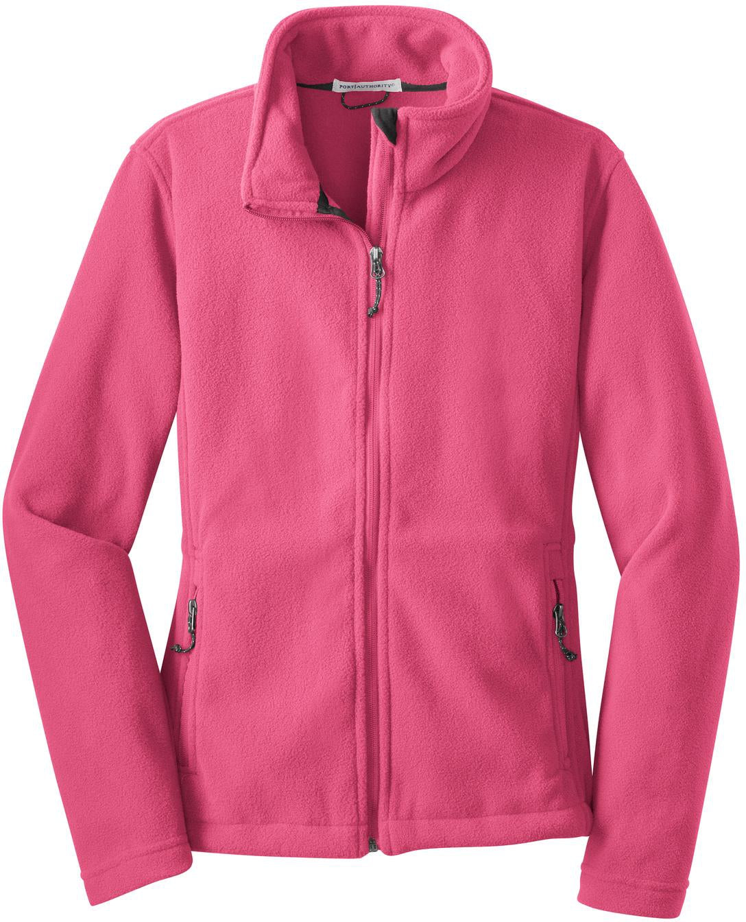 Port Authority-Ladies Value Fleece Jacket-XS-Pink Blossom-Thread Logic