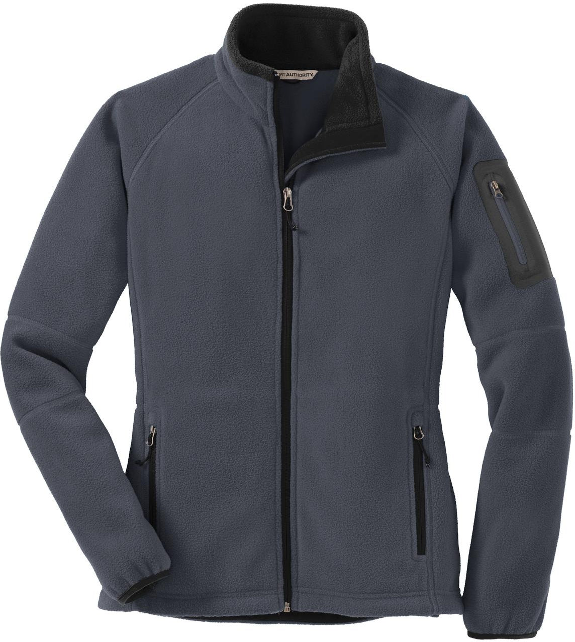 Port Authority-Ladies Enhanced Value Fleece Jacket-XS-Battleship Grey/Black-Thread Logic