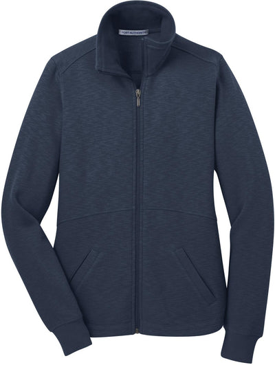 Port Authority-Ladies Slub Fleece Full-Zip-XS-Navy-Thread Logic