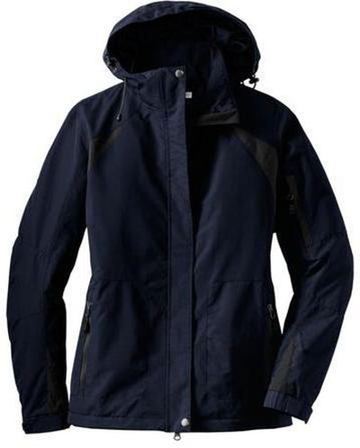 Port Authority-Ladies All-Season II Jacket-XS-Navy-Thread Logic