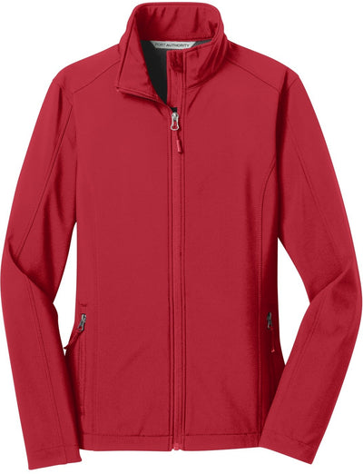 Port Authority-Ladies Core Soft Shell Jacket-XS-Rich Red-Thread Logic