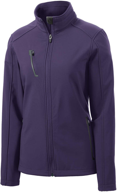 Port Authority-Ladies Welded Soft Shell Jacket-XS-Posh Purple-Thread Logic