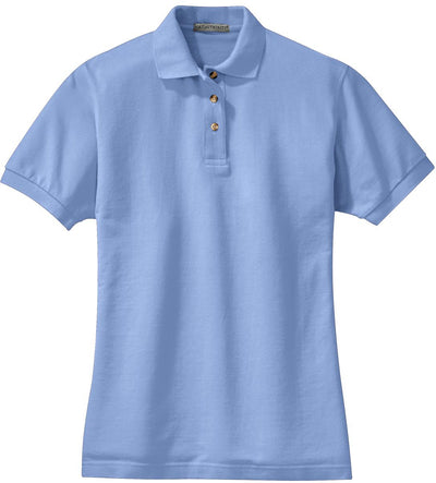 Port Authority-Ladies Pique Knit Polo-XS-Light Blue-Thread Logic