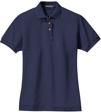 Port Authority-Ladies Pique Knit Polo-XS-Navy-Thread Logic