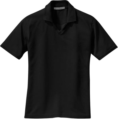 Port Authority-Ladies Rapid Dry Polo Shirt-XS-Jet Black-Thread Logic