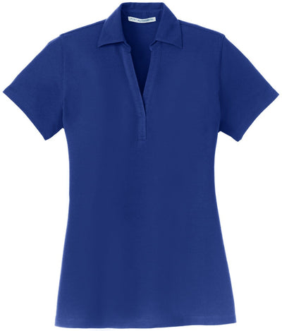 Port Authority-Ladies Silk Touch Y-Neck Polo-XS-Royal-Thread Logic