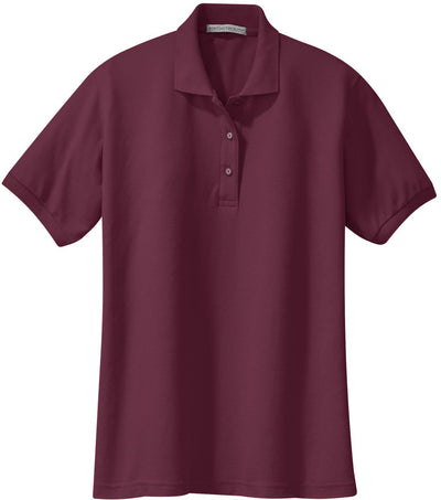 Burgundy Ladies Silk Touch Polo