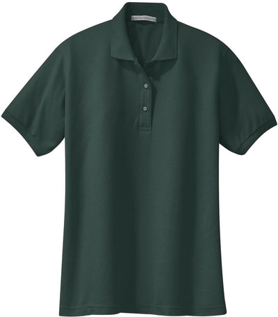 Port Authority-Ladies Silk Touch Polo-XS-Dark Green-Thread Logic