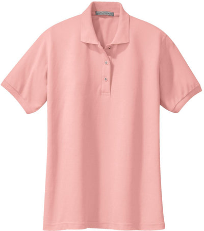 Light Pink Ladies Silk Touch Polo