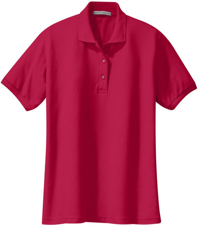 Port Authority-Ladies Silk Touch Polo-XS-Red-Thread Logic
