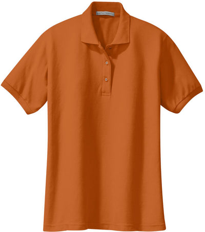 Port Authority-Ladies Silk Touch Polo-XS-Texas Orange-Thread Logic