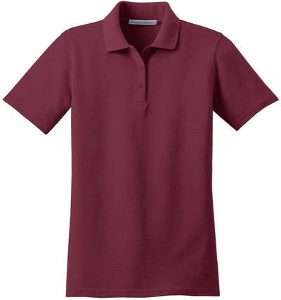 Port Authority-Ladies Stain-Resistant Polo-XS-Burgundy-Thread Logic