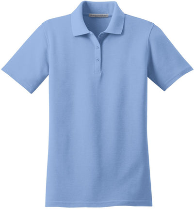 Port Authority-Ladies Stain-Resistant Polo-XS-Light Blue-Thread Logic