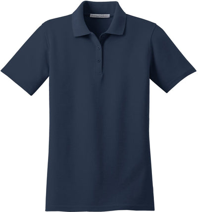 Port Authority-Ladies Stain-Resistant Polo-XS-Navy-Thread Logic