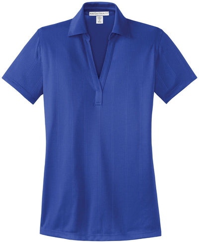 Port Authority-Ladies Fine Jacquard Polo-XS-Hyper Blue-Thread Logic