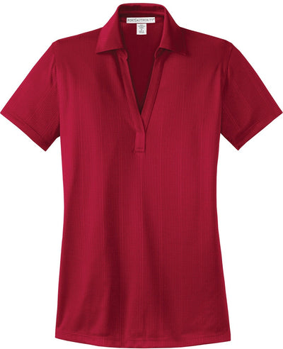 Port Authority-Ladies Fine Jacquard Polo-XS-Red-Thread Logic