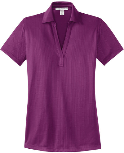 Port Authority-Ladies Fine Jacquard Polo-XS-Violet-Thread Logic