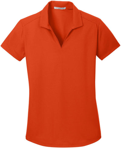 Port Authority-Ladies Dry Zone Grid Polo-XS-Autumn Orange-Thread Logic