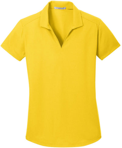 Port Authority-Ladies Dry Zone Grid Polo-XS-Yellow-Thread Logic