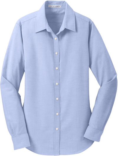 Port Authority-Ladies SuperPro Oxford Shirt-XS-Oxford Blue-Thread Logic