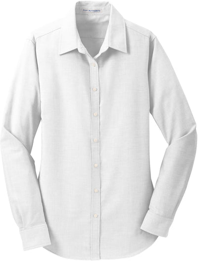 Port Authority-Ladies SuperPro Oxford Shirt-XS-White-Thread Logic