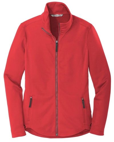 Port Authority-Ladies Collective Smooth Fleece Jacket-XS-Red Pepper-Thread Logic