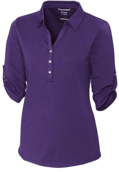 Cutter&Buck Ladies' E/S Thrive Polo-XS-College Purple-Thread Logic