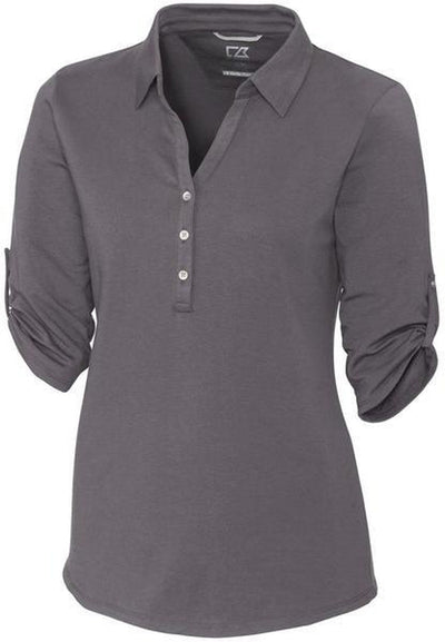 Cutter&Buck Ladies' E/S Thrive Polo-XS-Elemental Grey-Thread Logic