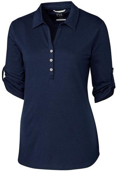 Cutter&Buck Ladies' E/S Thrive Polo-XS-Liberty Navy-Thread Logic