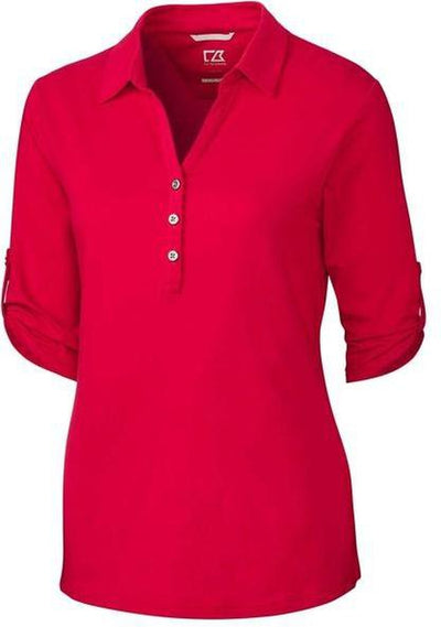 Cutter&Buck Ladies' E/S Thrive Polo-XS-Red-Thread Logic