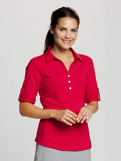 Cutter&Buck Ladies' E/S Thrive Polo-Thread Logic no-logo