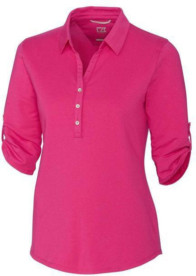 Cutter&Buck Ladies' E/S Thrive Polo-XS-Refresh-Thread Logic
