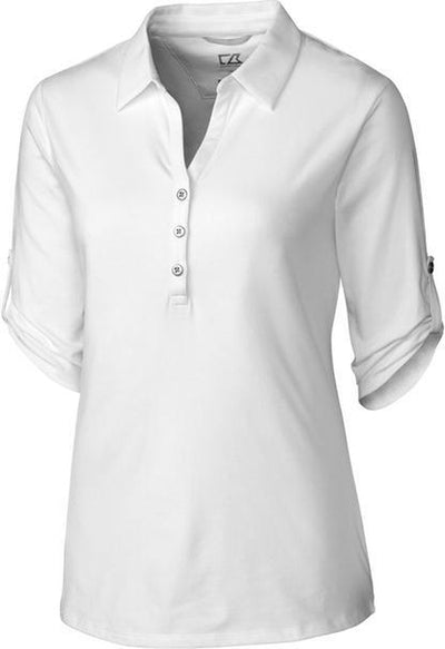 Cutter&Buck Ladies' E/S Thrive Polo-XS-White-Thread Logic