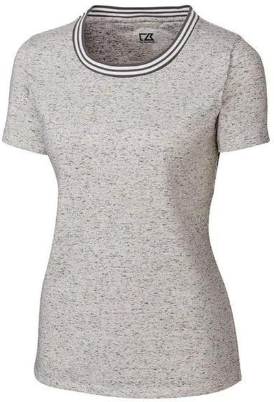 Cutter&Buck Ladies Advantage Space Dye Tee-S-Elemental Grey-Thread Logic