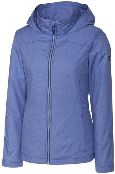 Cutter&Buck Ladies L/S Panoramic Packable Jacket-XS-Tour Blue-Thread Logic
