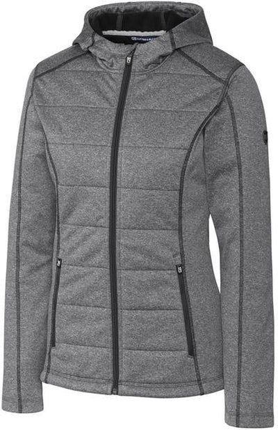 Cutter&Buck Ladies Altitude Quilted Jacket-XS-Charcoal-Thread Logic