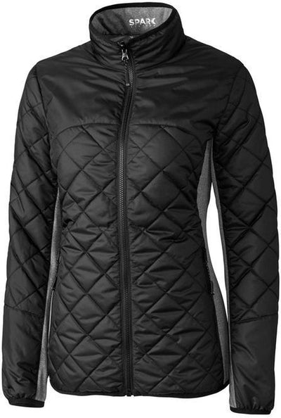 Cutter&Buck Ladies Lt Wt Sandpoint Quilted Jacket-XS-Black-Thread Logic