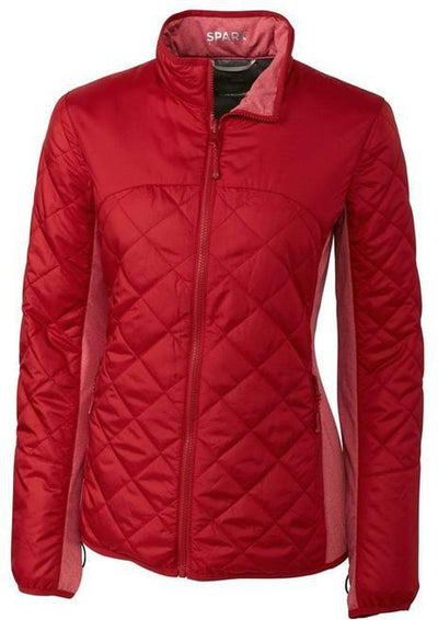 Cutter&Buck Ladies Lt Wt Sandpoint Quilted Jacket-XS-Cardinal Red-Thread Logic